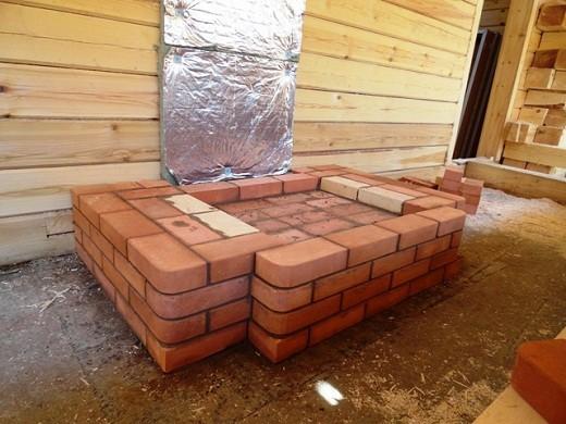 Инструкция как сделать фундамент под камин