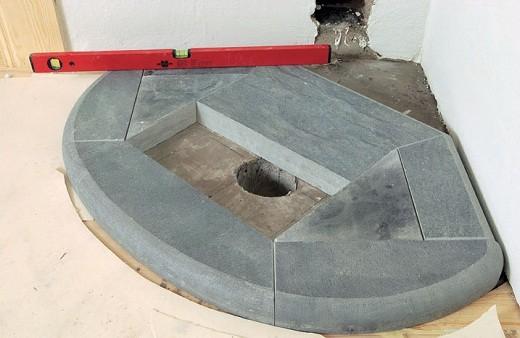 На снимке представлен фундамент под камин