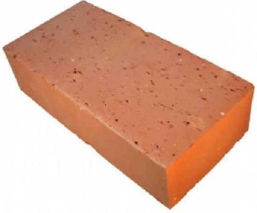Красный полнотелый керамический кирпич для кладки камина на рисунке