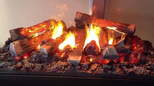 Камин электрический с имитацией живого пламени в 3D