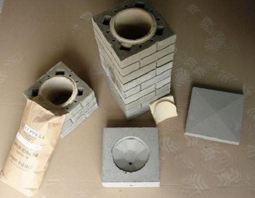 На фото представлен пример керамического дымохода