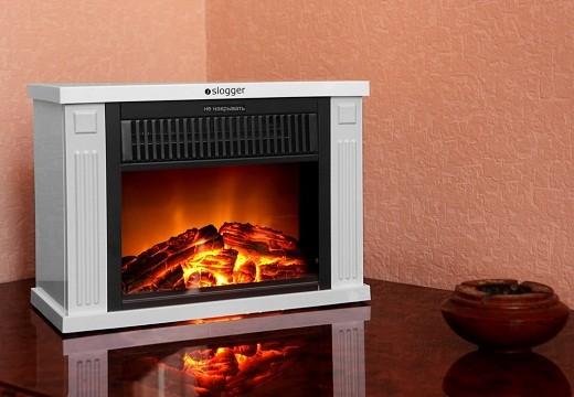 Мини-камин электрический «Slogger SL-480» отличается оригинальным современным дизайном и компактными размерами на снимке