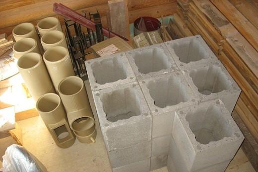 На снимке представлены основные составляющие керамического дымохода