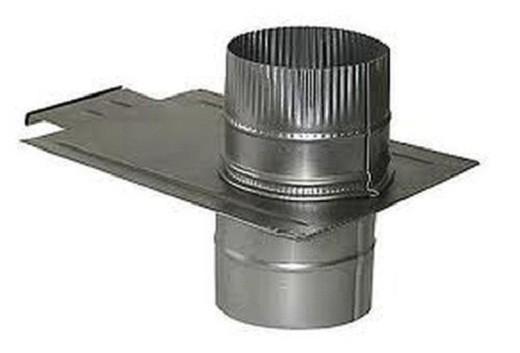 На фото выдвижной металлический шибер для дымохода.