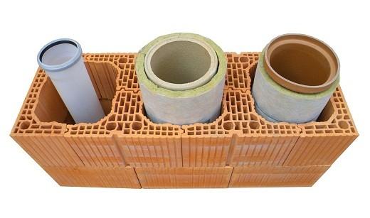 На фото представлены разные виды керамических труб для дымоходов