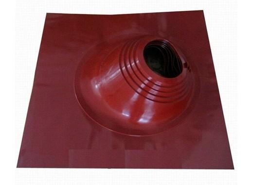 Угловая кровельная проходка для дымохода представлена на фото
